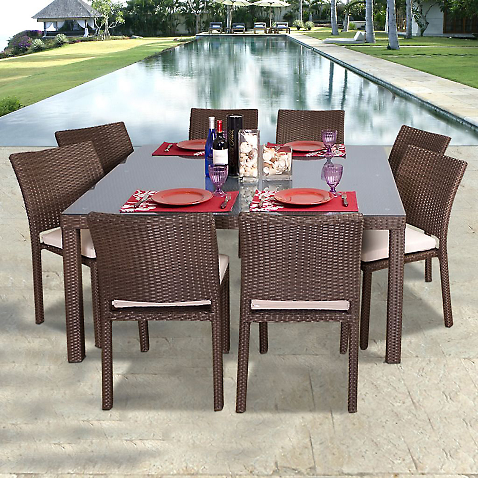 dining sets 8 person sears