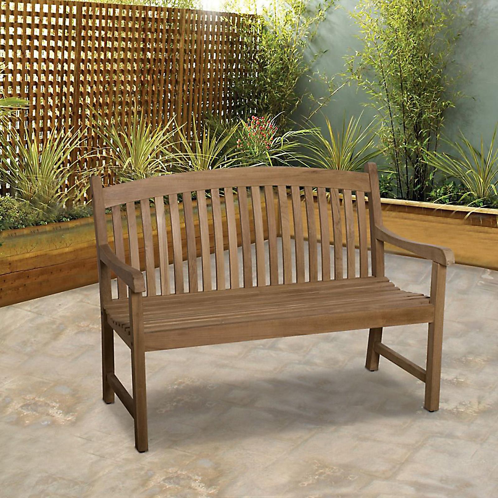 "Mandalay Teak Wood 4"" Patio Bench"