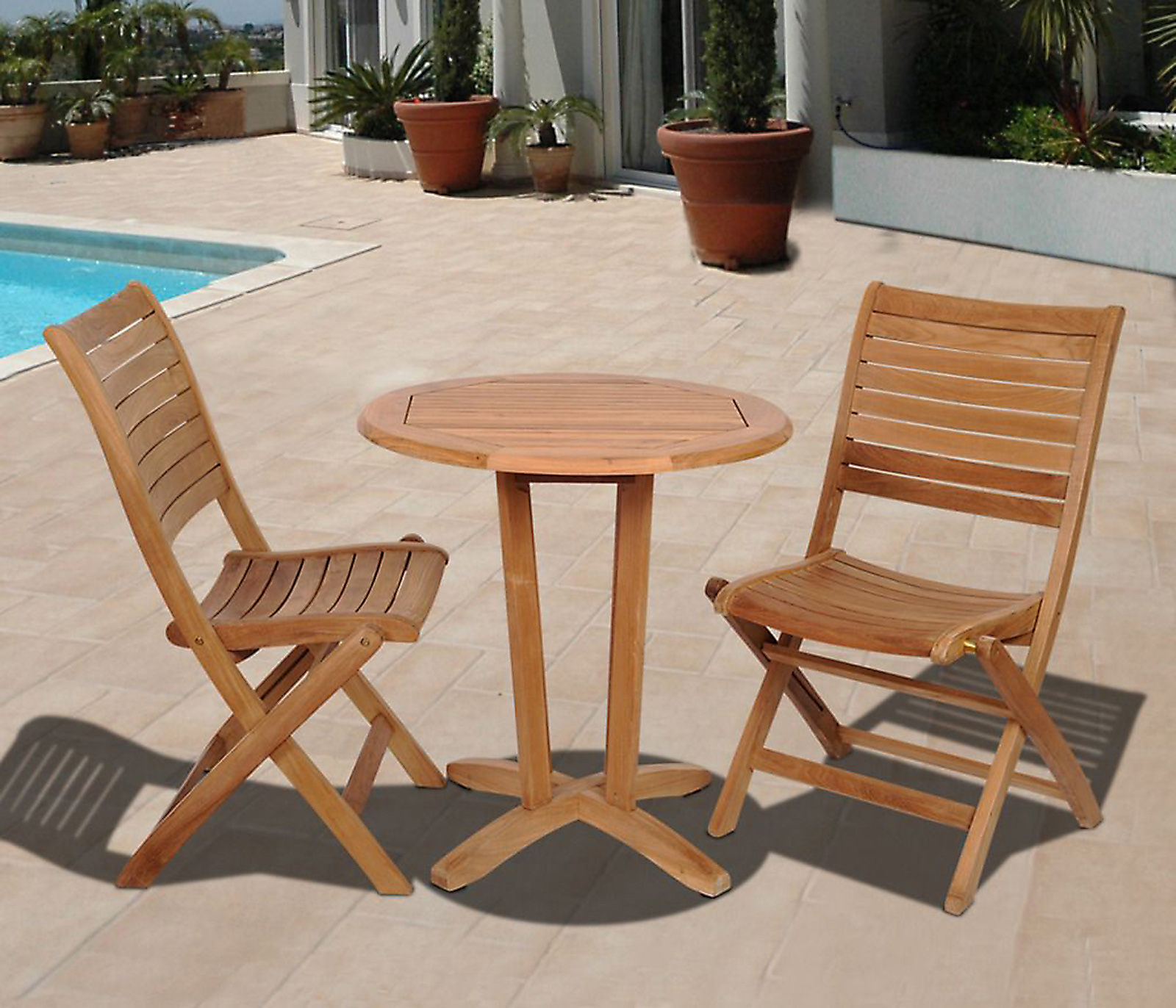 Outdoor Wood Bistro Sets