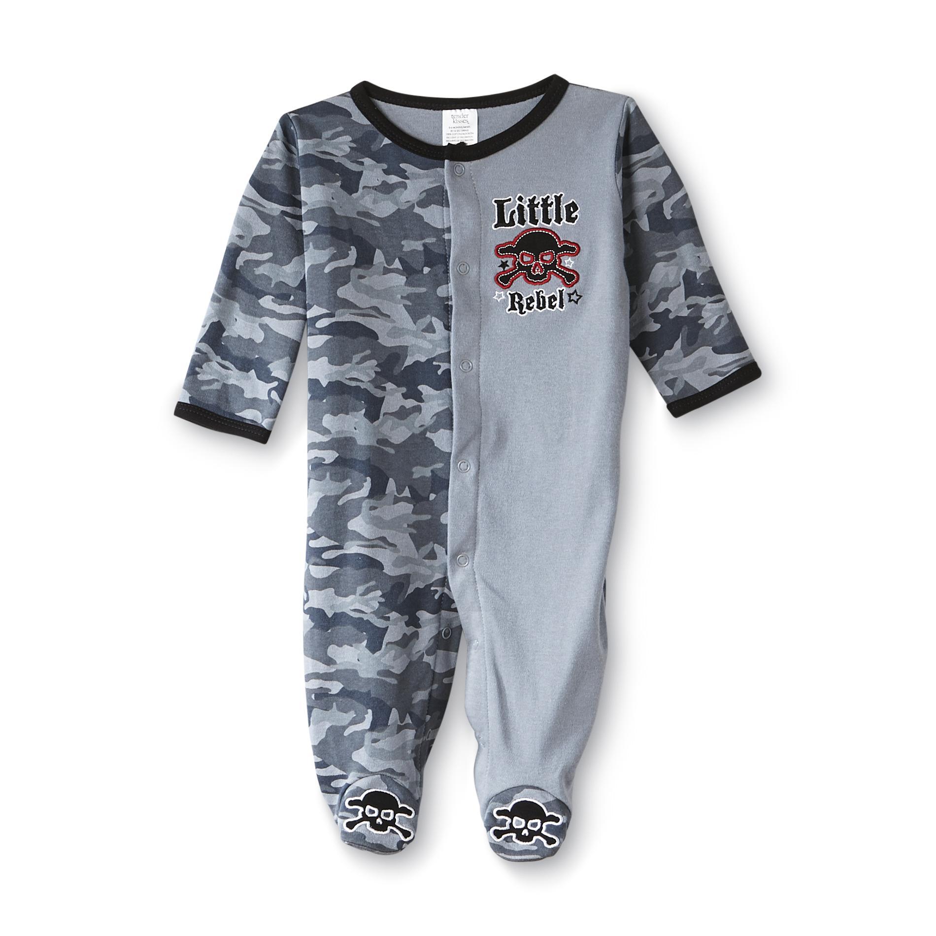 Tender Kisses Infant Boy' Sleeper Pajamas - Little Rebel
