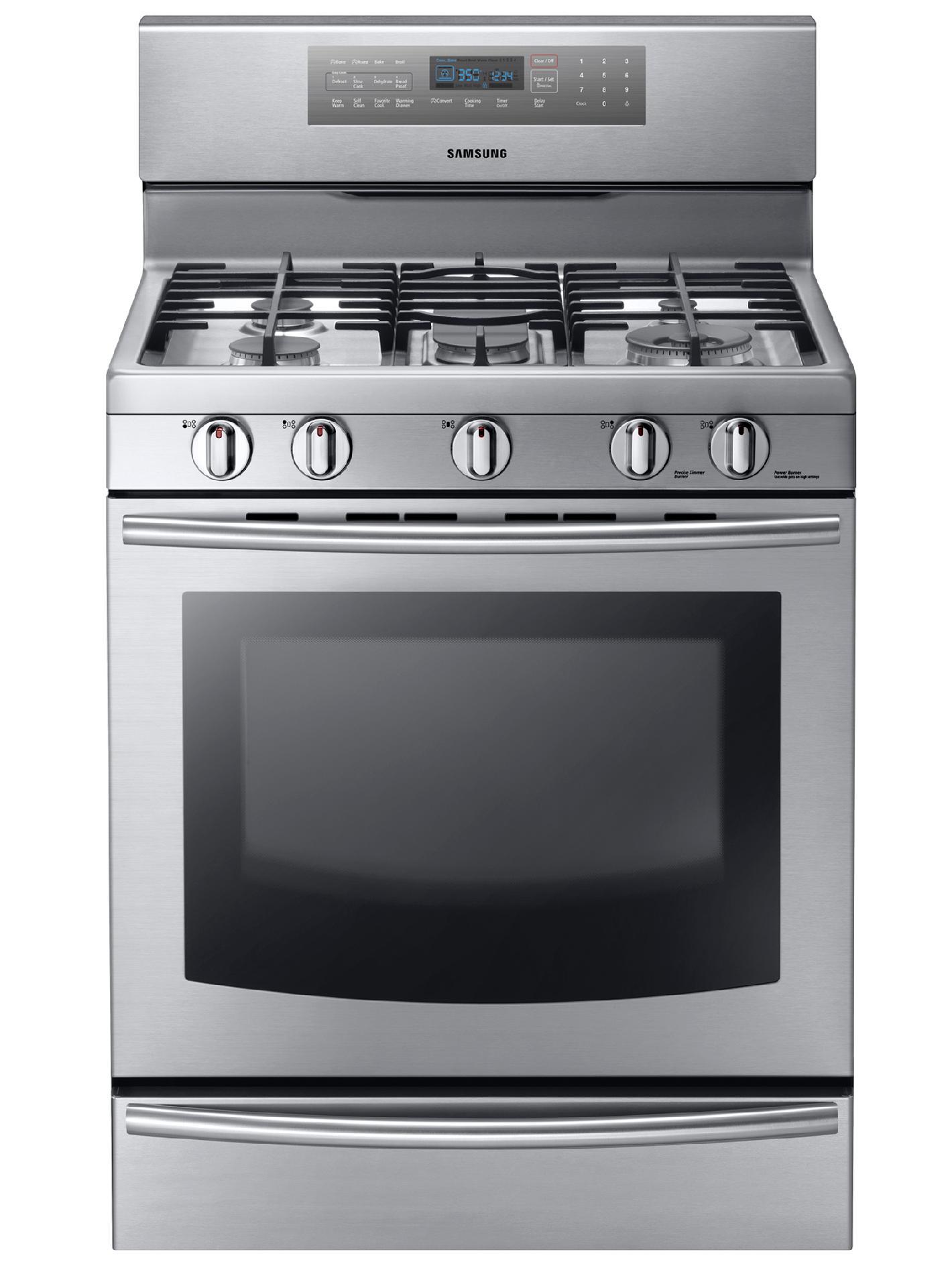 Samsung NX58F5700WS 58 cu ft Gas Range w True