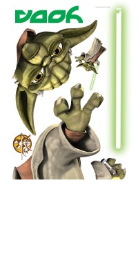 RoomMates Star Wars Yoda Peel & Stick Giant Wall Decals ...