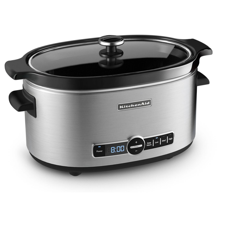 kitchen aid slow cooker sink 33 x 22 kitchenaid ksc6223ss 6 quart stainless steel