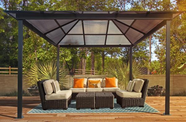 Santa Monica 10x13 Gazebo - Outdoor Living Gazebos Canopies & Pergolas