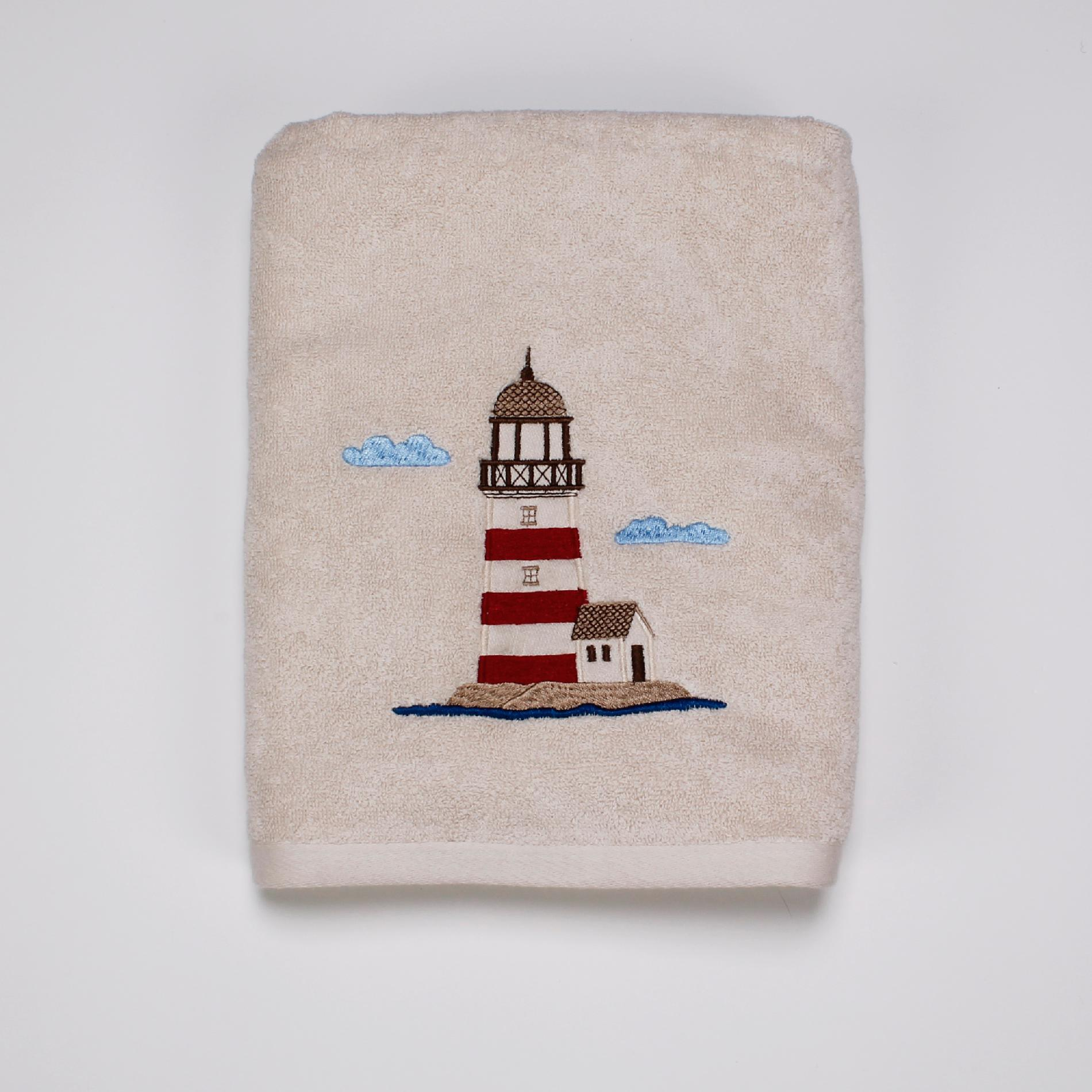 Essential Home Point Bay Lighthouse Bath Towel  Home