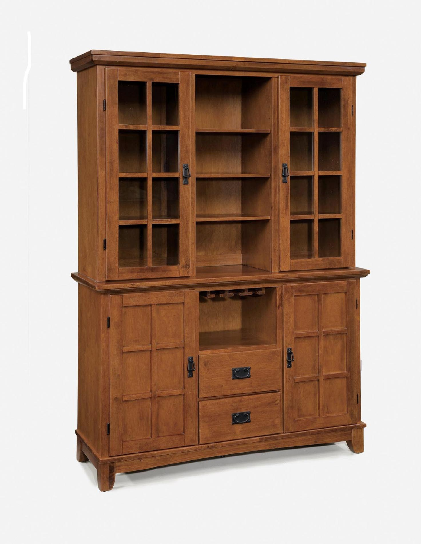 Home Styles Arts Amp Crafts Dining Buffet Amp Hutch Cottage Oak