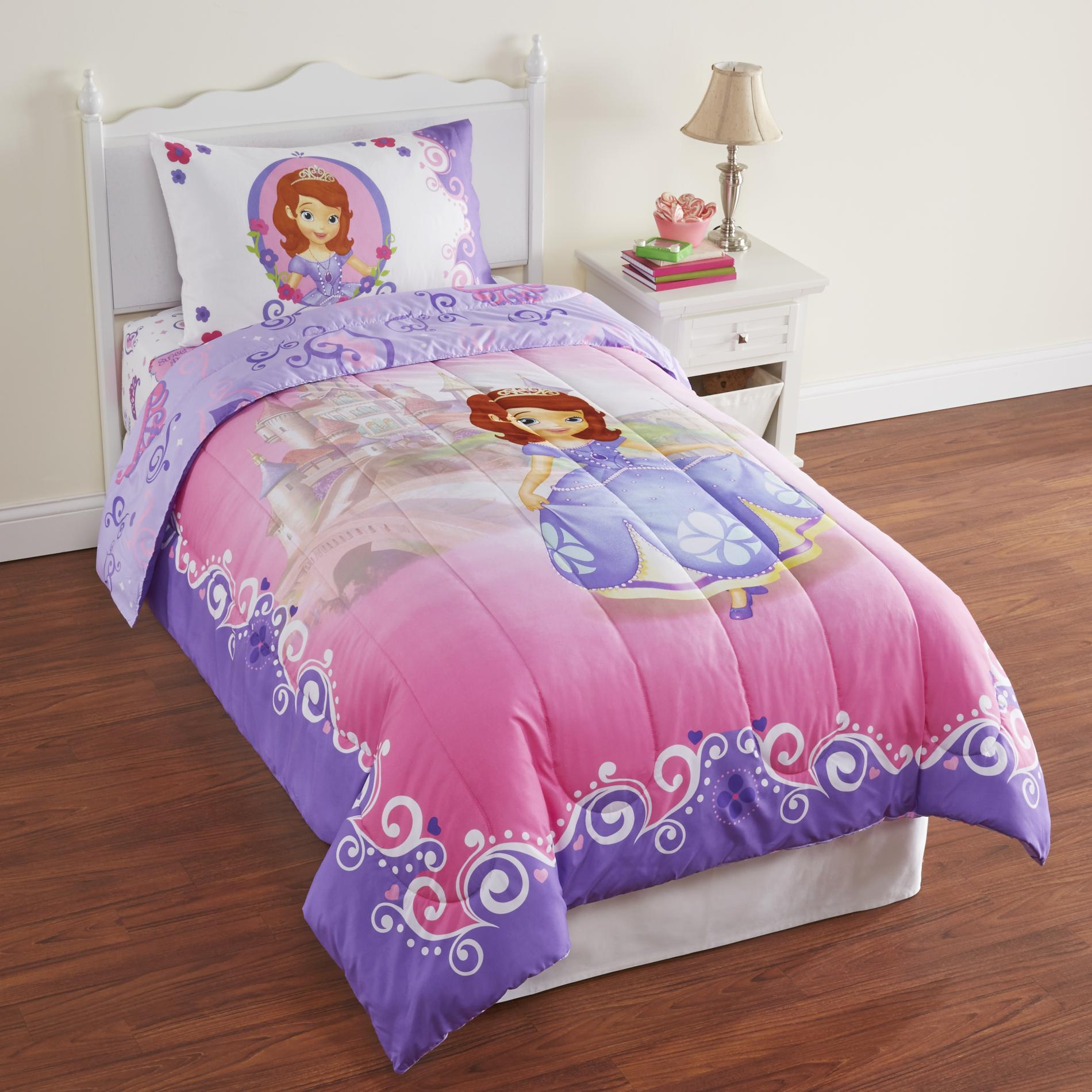 Disney Sofia The First Girl S Microfiber Twin Comforter