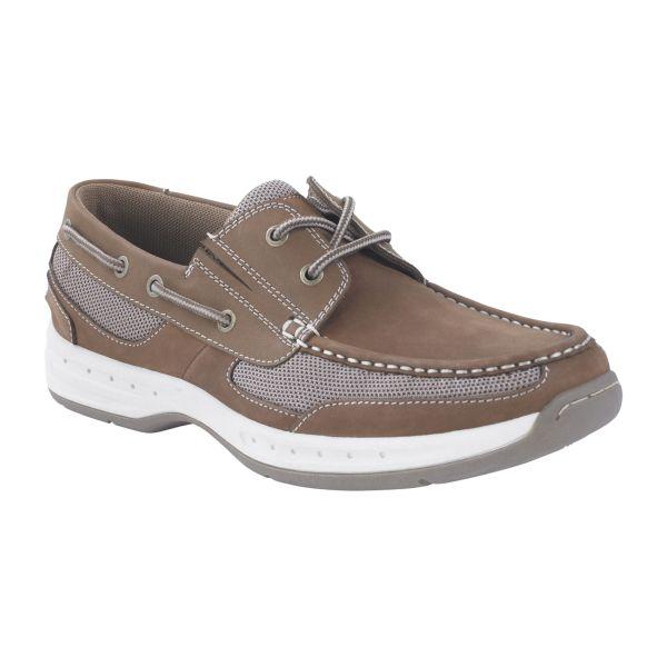 Thom Mcan Men' Mooring Leather Boat Shoe - Tan