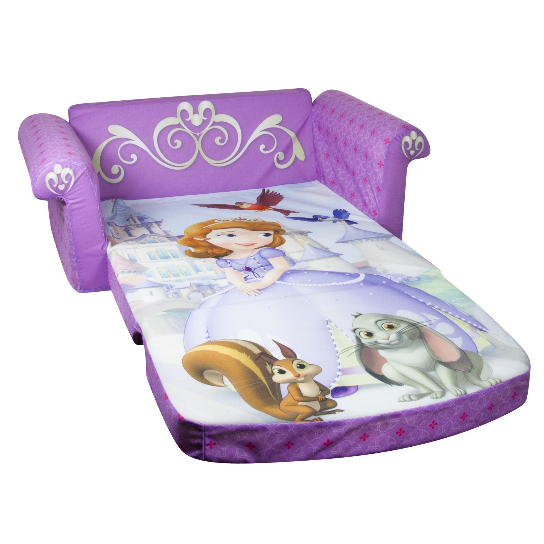 disney princess flip out sofa cowhide throws marshmallow fun co children 39s upholstered 2 in 1 open