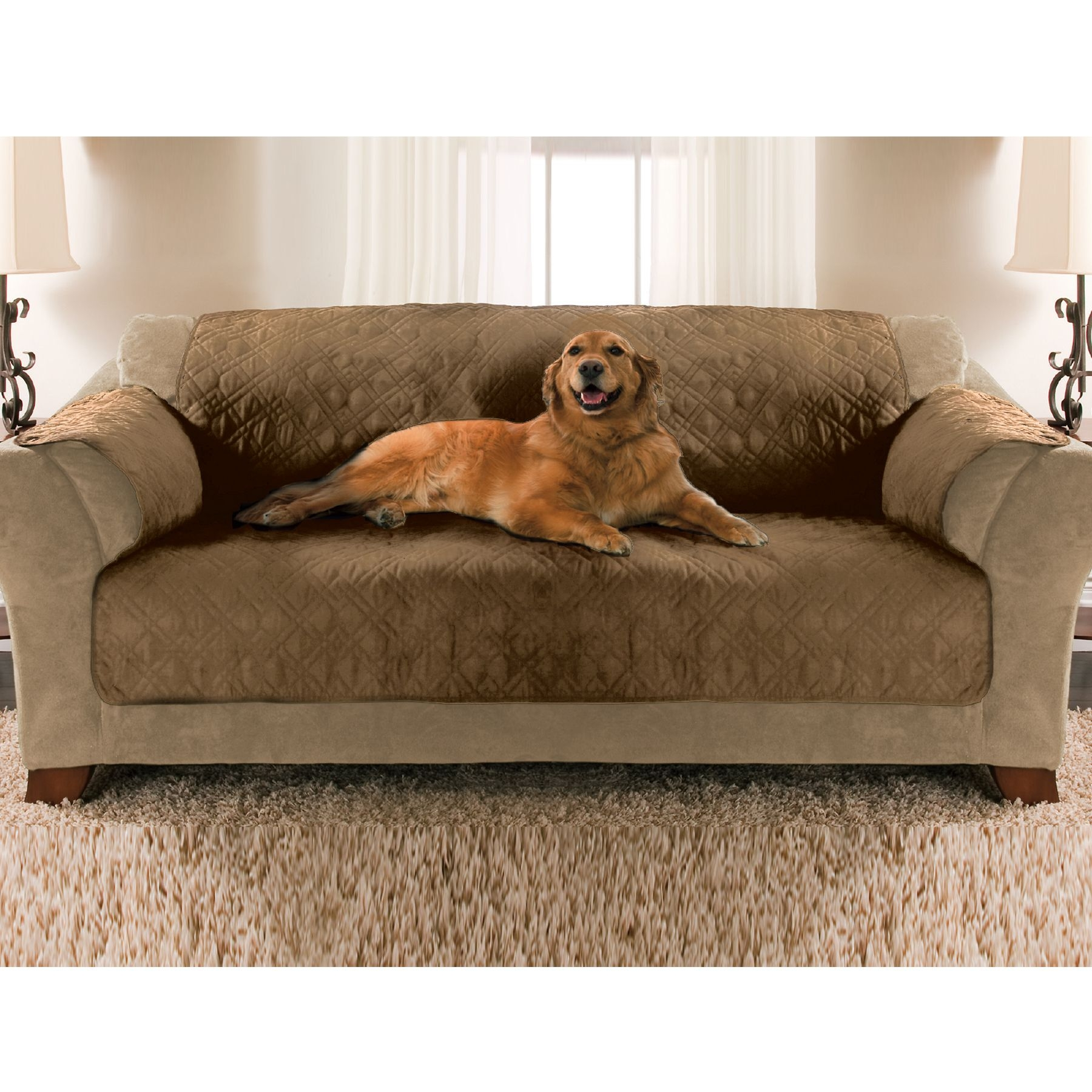 Essential Home Sofa Pet Cover Tan Shop Your Way Online Shopping Amp Earn Points On Tools