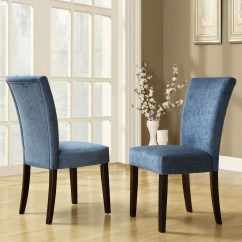Royal Blue Chairs Hanging Chair For Room Oxford Creek Rachel Chenille Parson Set