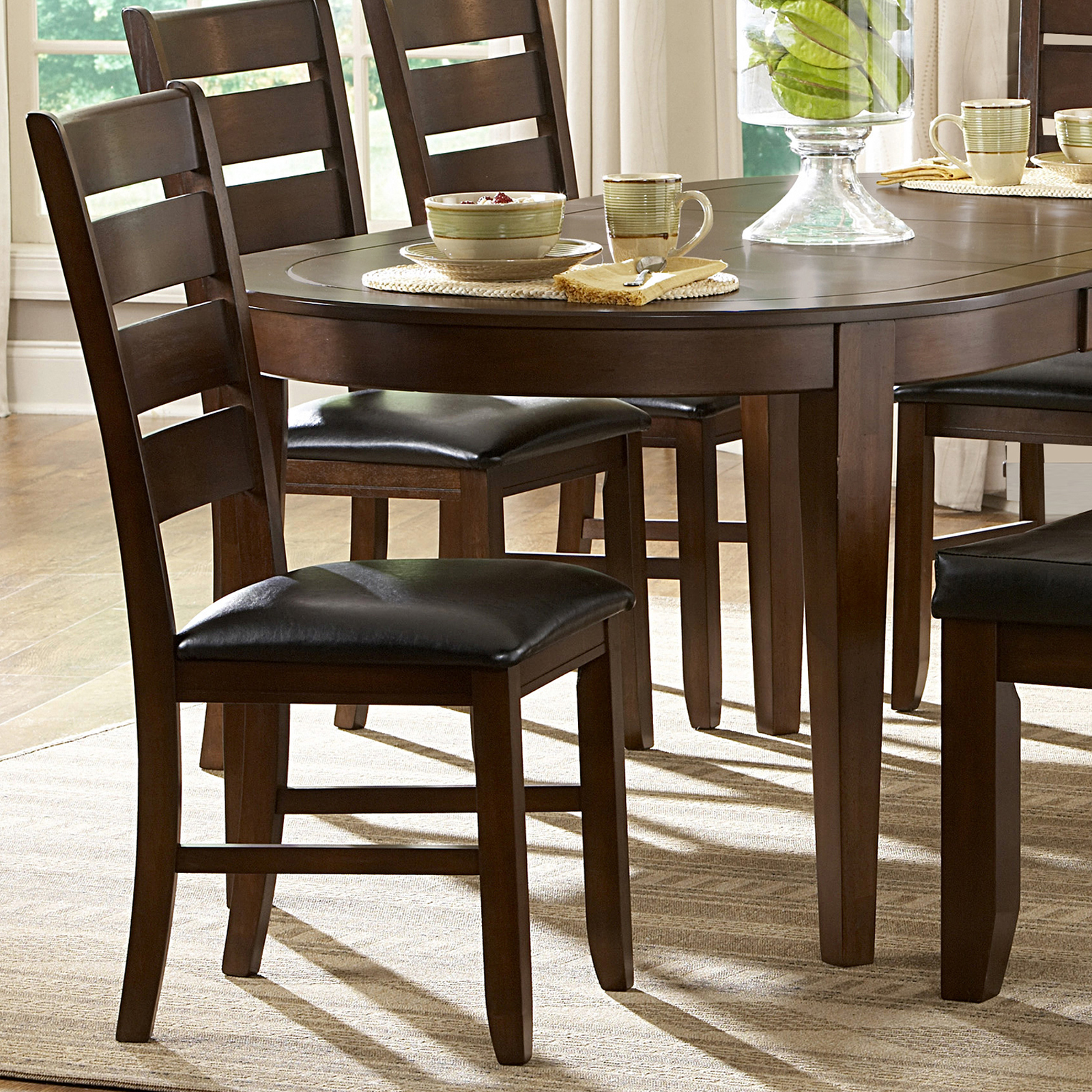 rubberwood butterfly table with 4 chairs bariatric rollator transport chair oxford creek albany 6 piece oval shape dining set - home furniture & kitchen ...