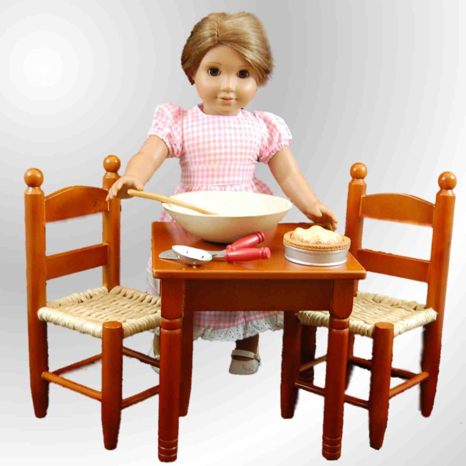 american girl high chair cracker barrel chairs the queen 39s treasures country kitchen dining table and 2