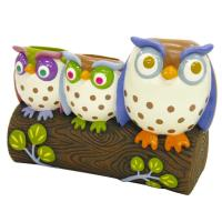 Toothbrush Holder - Awesome Owls