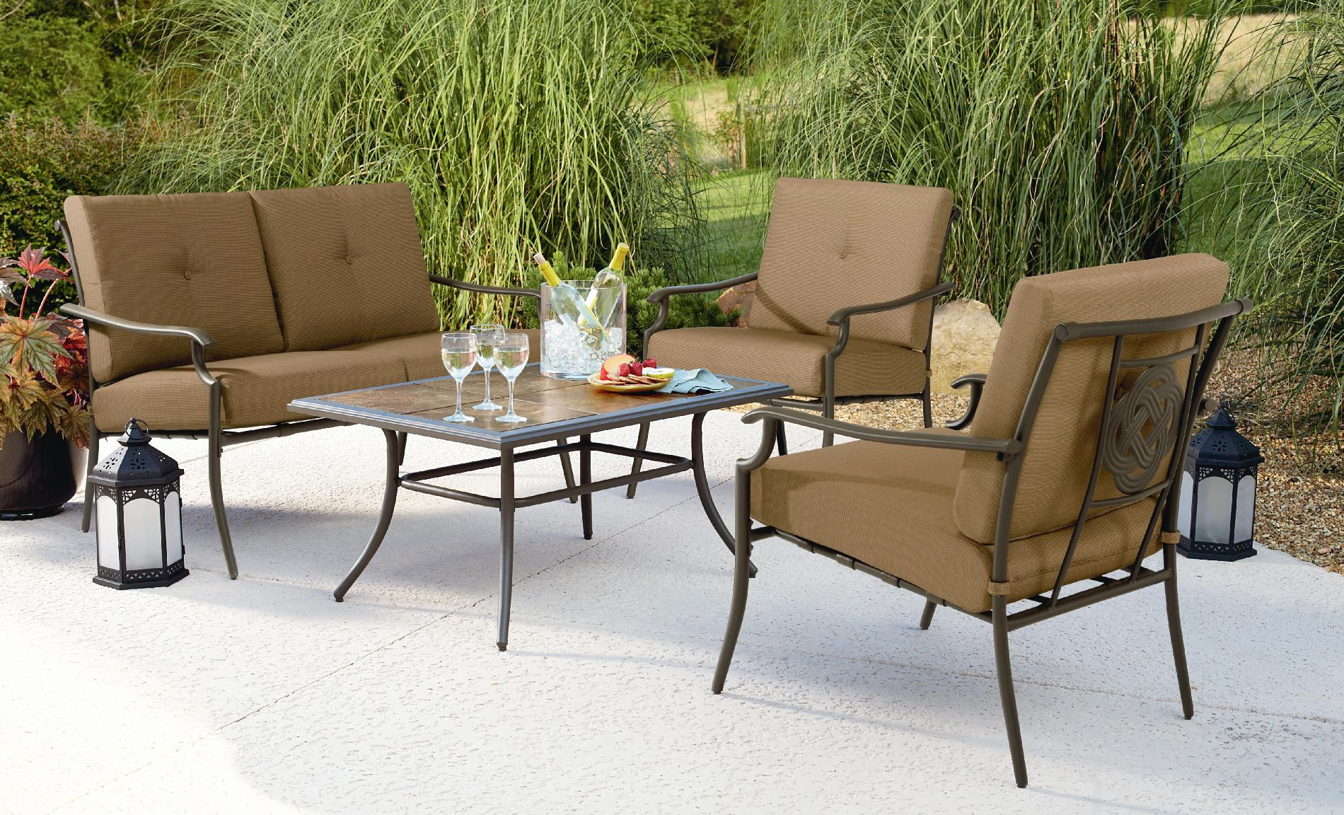Garden Oasis Emery 4pc Cushion Seating Set Limited