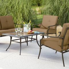 Garden Oasis Patio Chairs Wooden Glider Chair Parts Emery 4pc Cushion Seating Set Limited