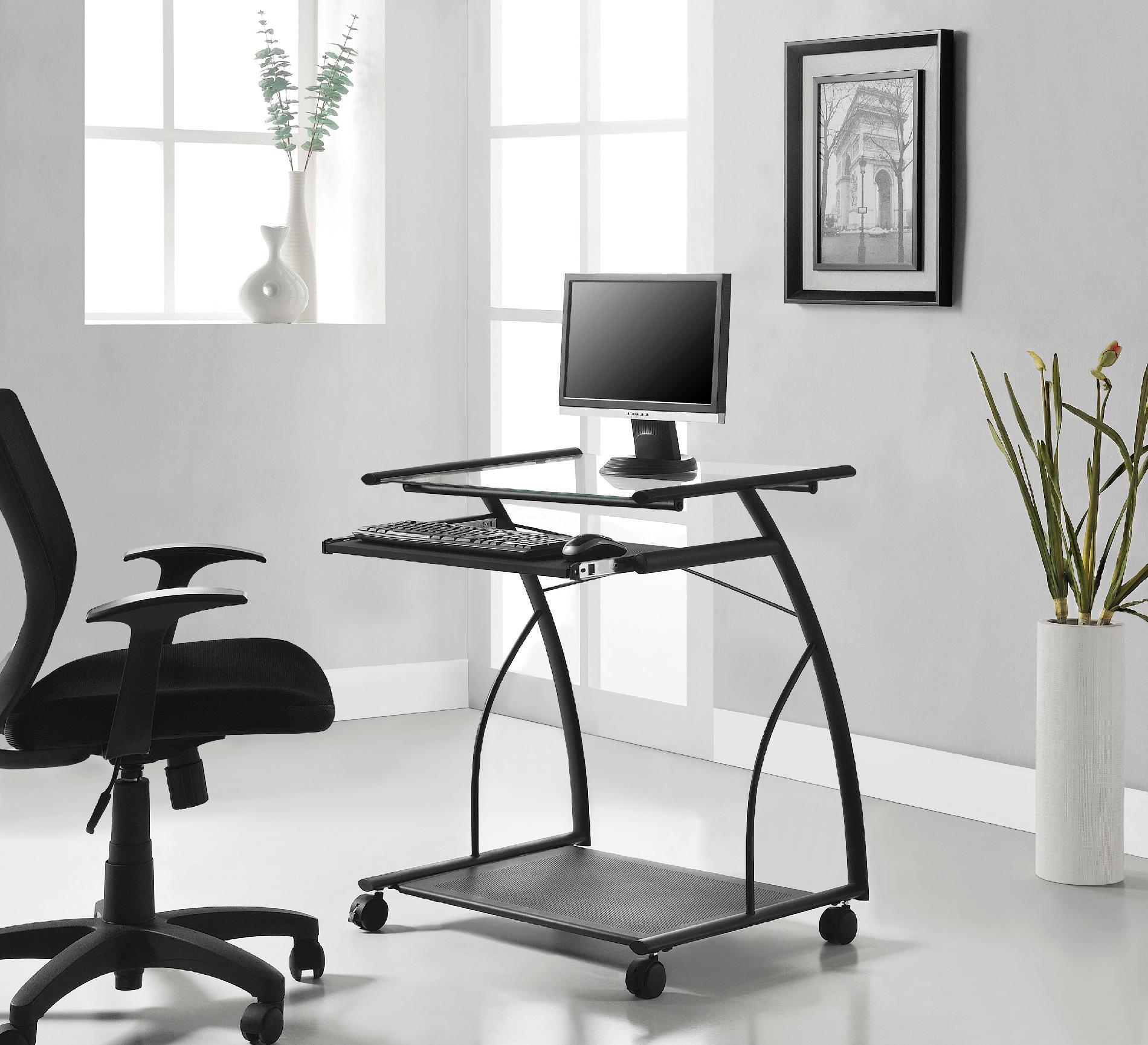 chair mobile stand cheap recliner chairs under 100 dorel computer cart desk black