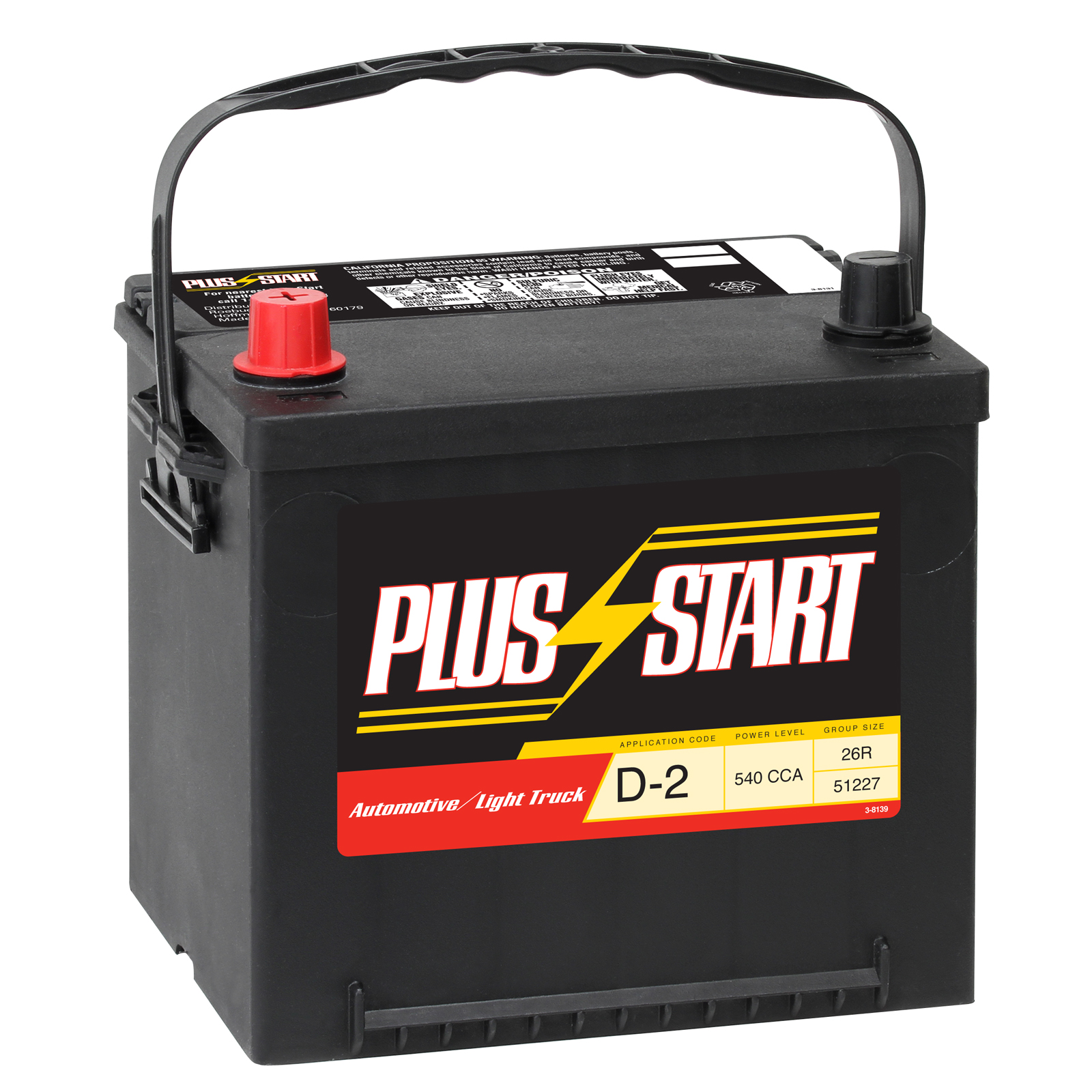Start Automotive Battery - Group Size Ep-26r With Exchange