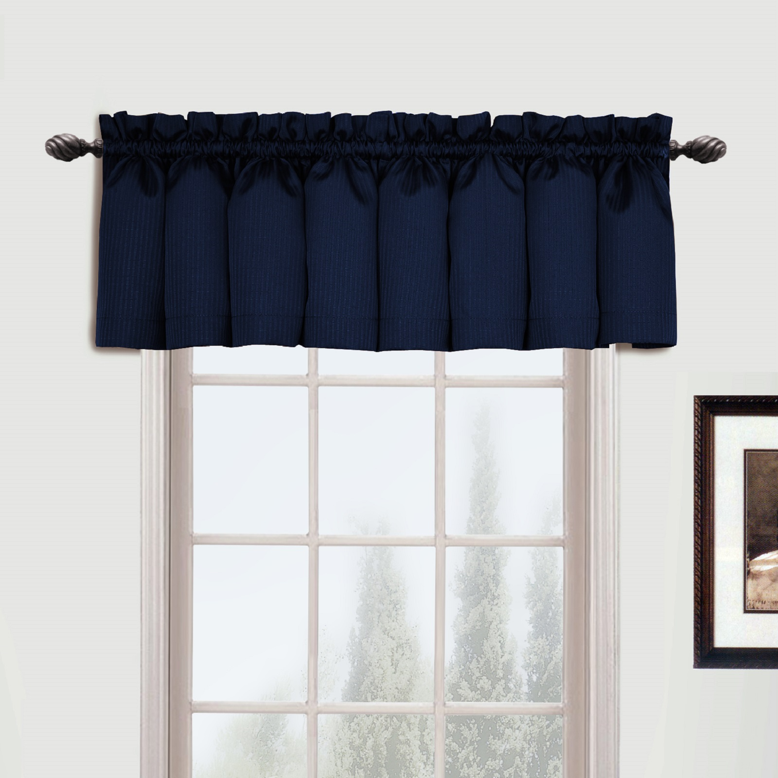 "United Curtain Company Metro 54"" X 16"" Woven Vertical Tone"