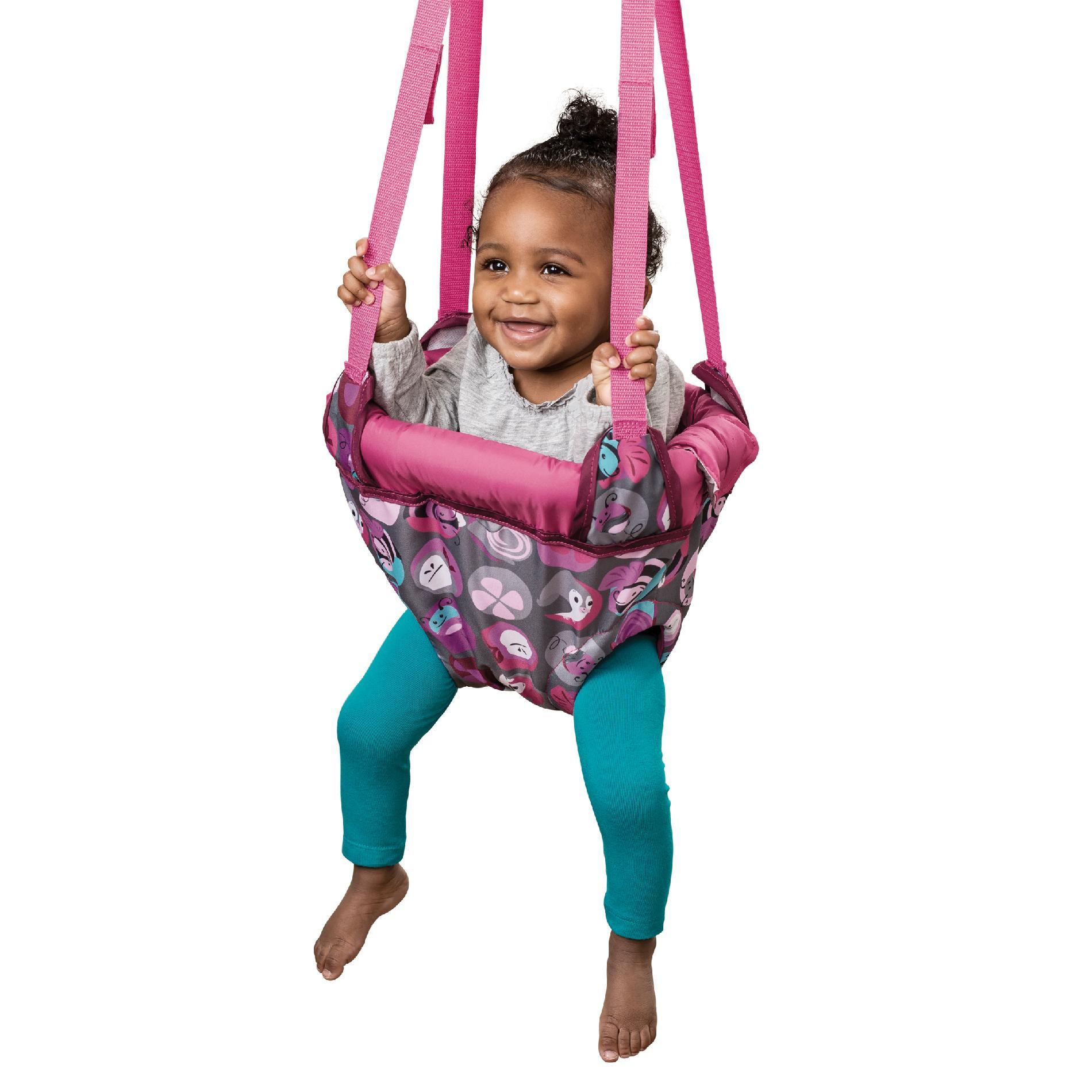 Evenflo Exersaucer Doorway Jumper  Pink Bumbly  Baby