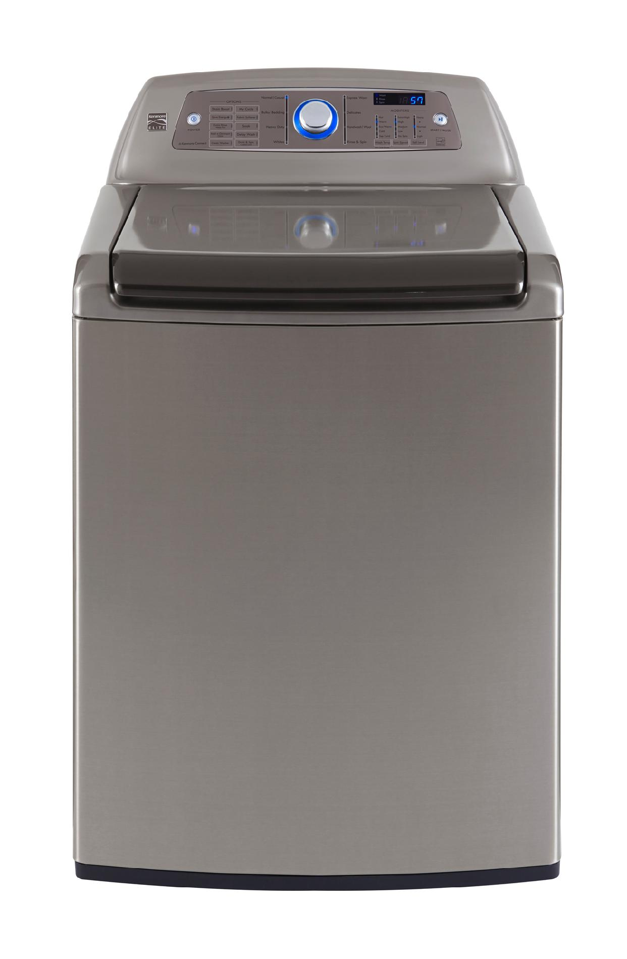 Kenmore Elite 4.7 Cu. Ft. High-efficiency Top-load Washer - Metallic Silver Energy Star