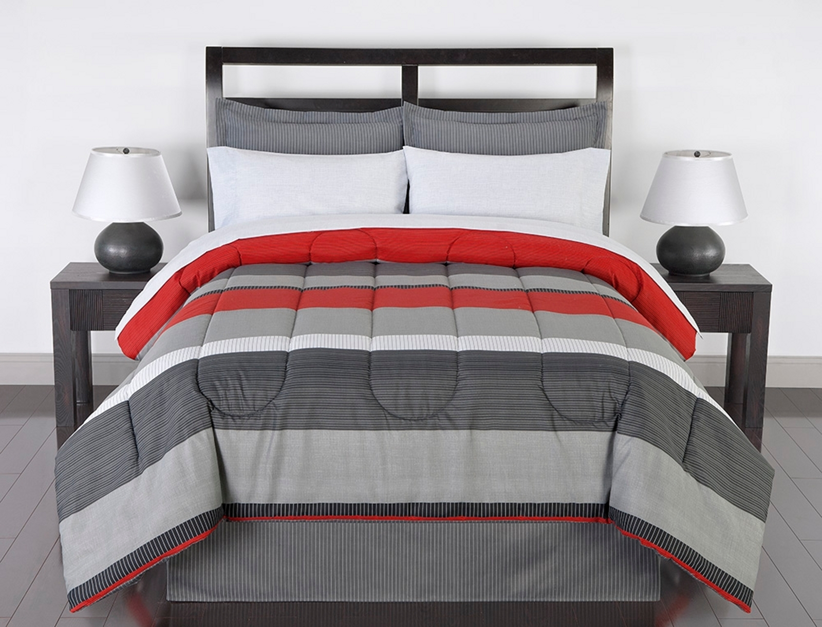 Colormate Complete Bed Set  Greyson Striped