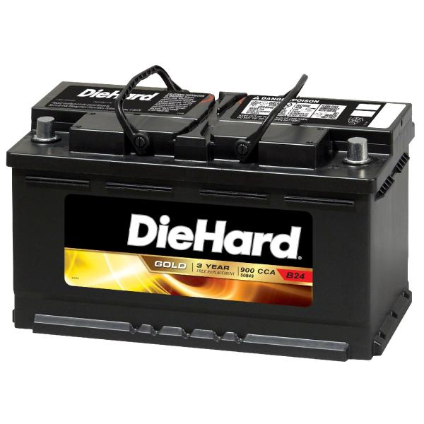 Diehard Gold Automotive Battery - Group Size 36r With Exchange Batteries