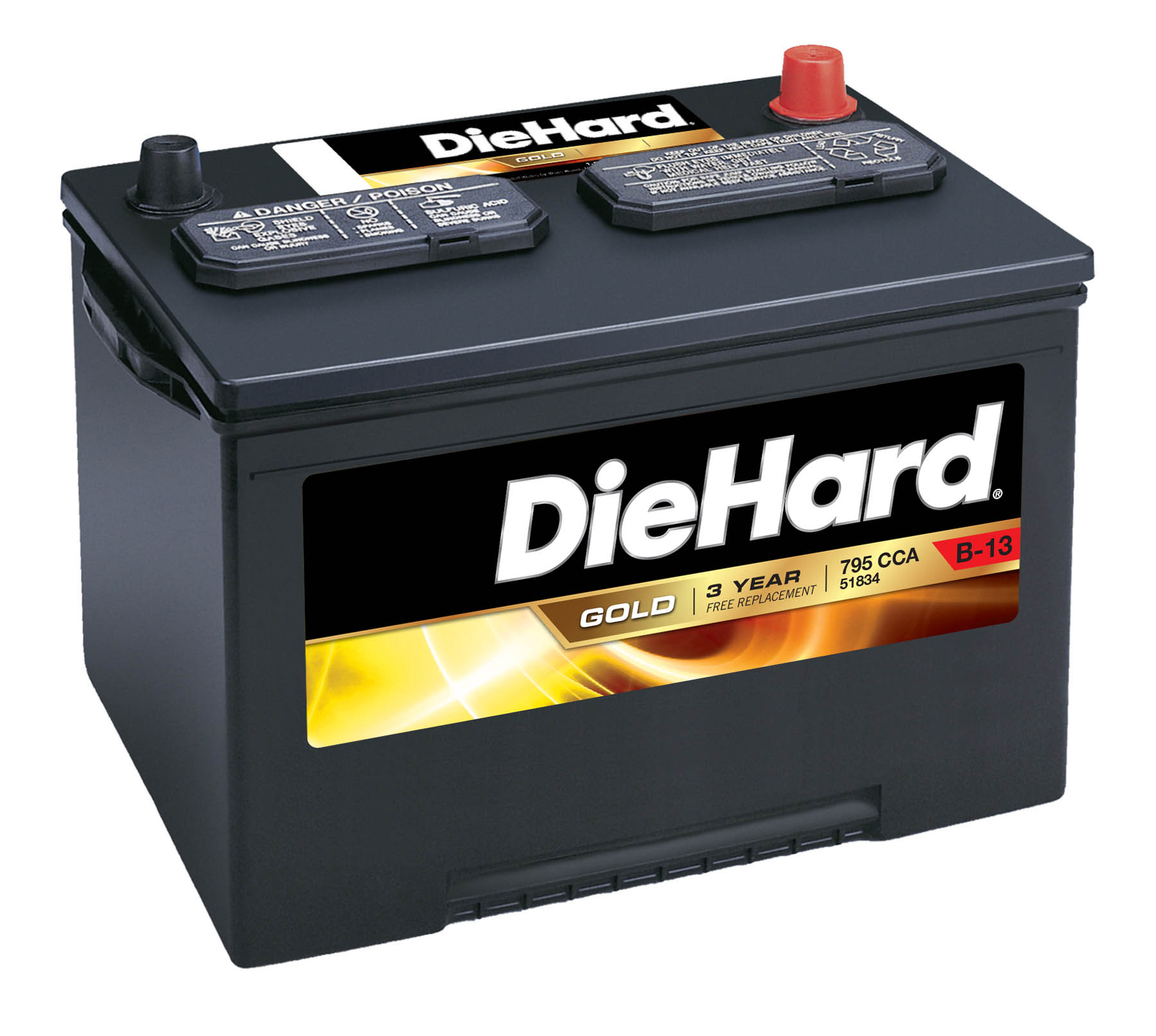 Diehard Gold Automotive Battery - Group Size Jc-34 With Exchange