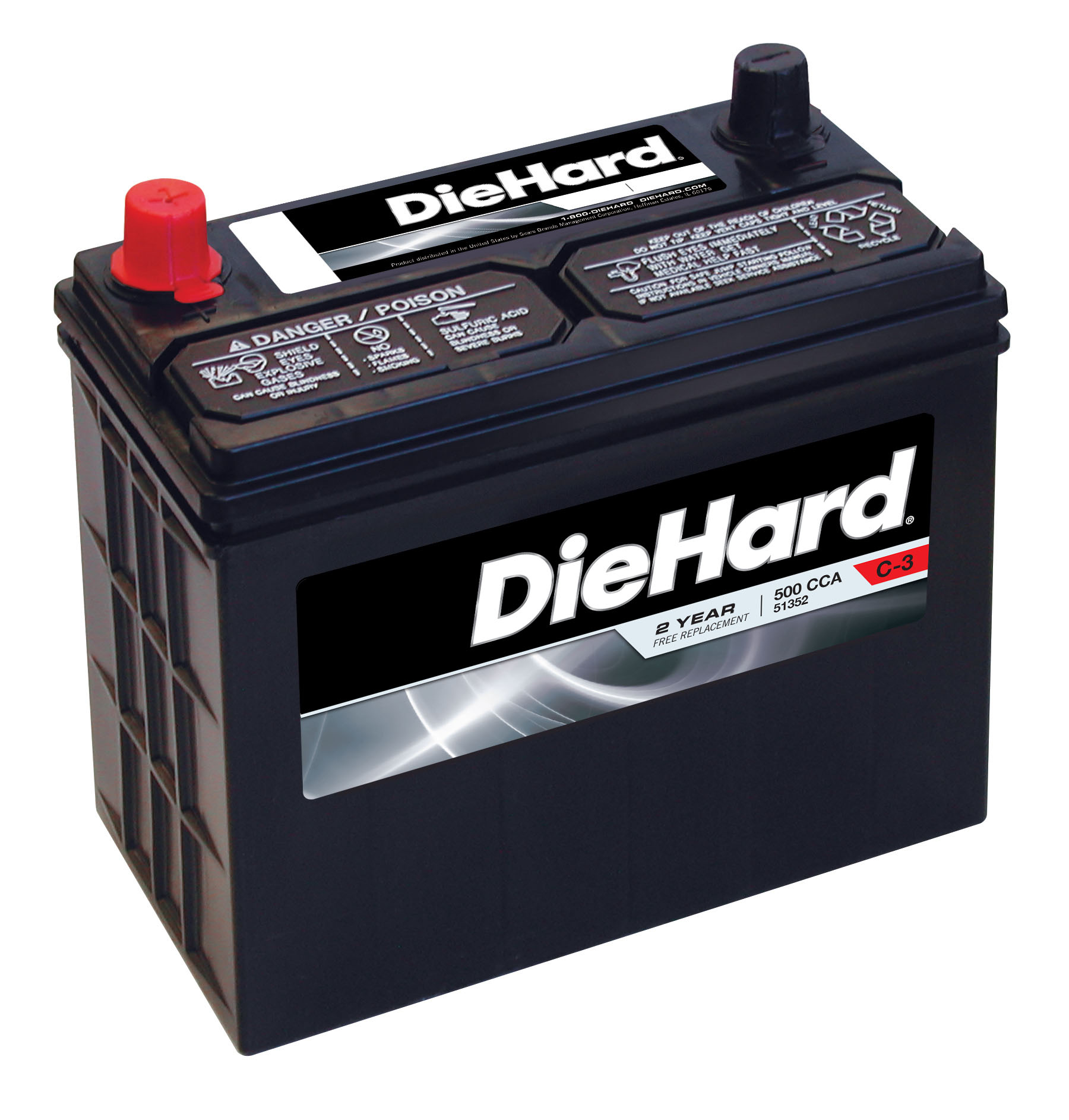 Diehard Automotive Battery - Group Size Jc-51r With Exchange