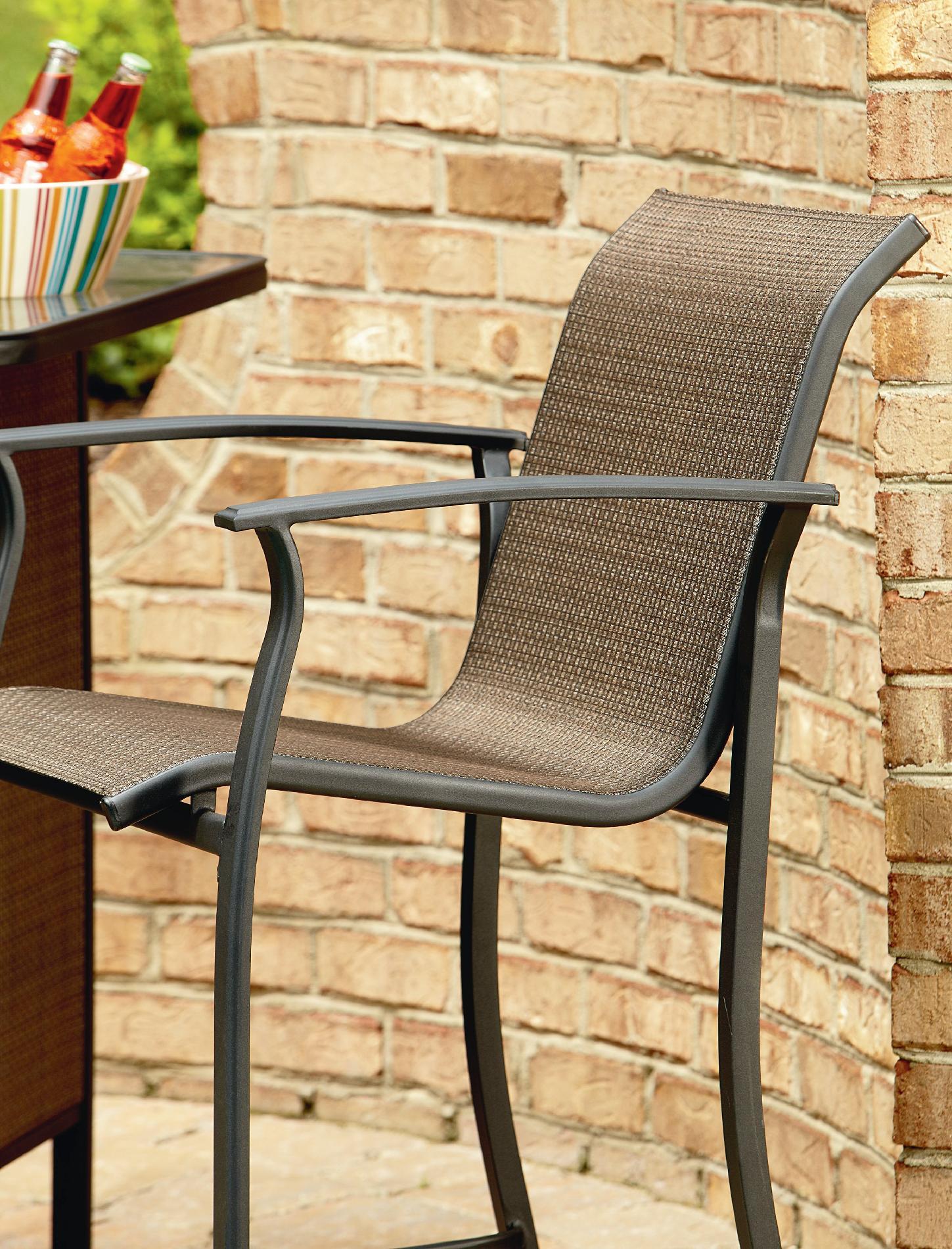 Garden Oasis Harrison 5 Piece Bar Set  Outdoor Living  Patio Furniture  Bars