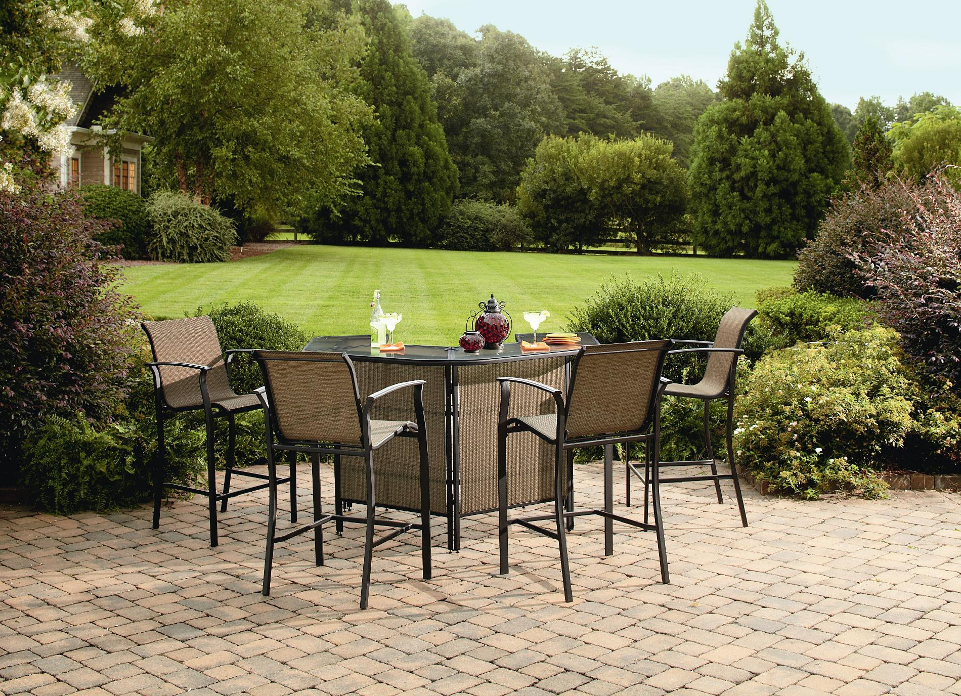 Garden Oasis Harrison 5 Piece Bar Set - Outdoor Living