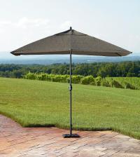 Mason Green Weston 9 Feet Rectangular Umbrella - Outdoor ...