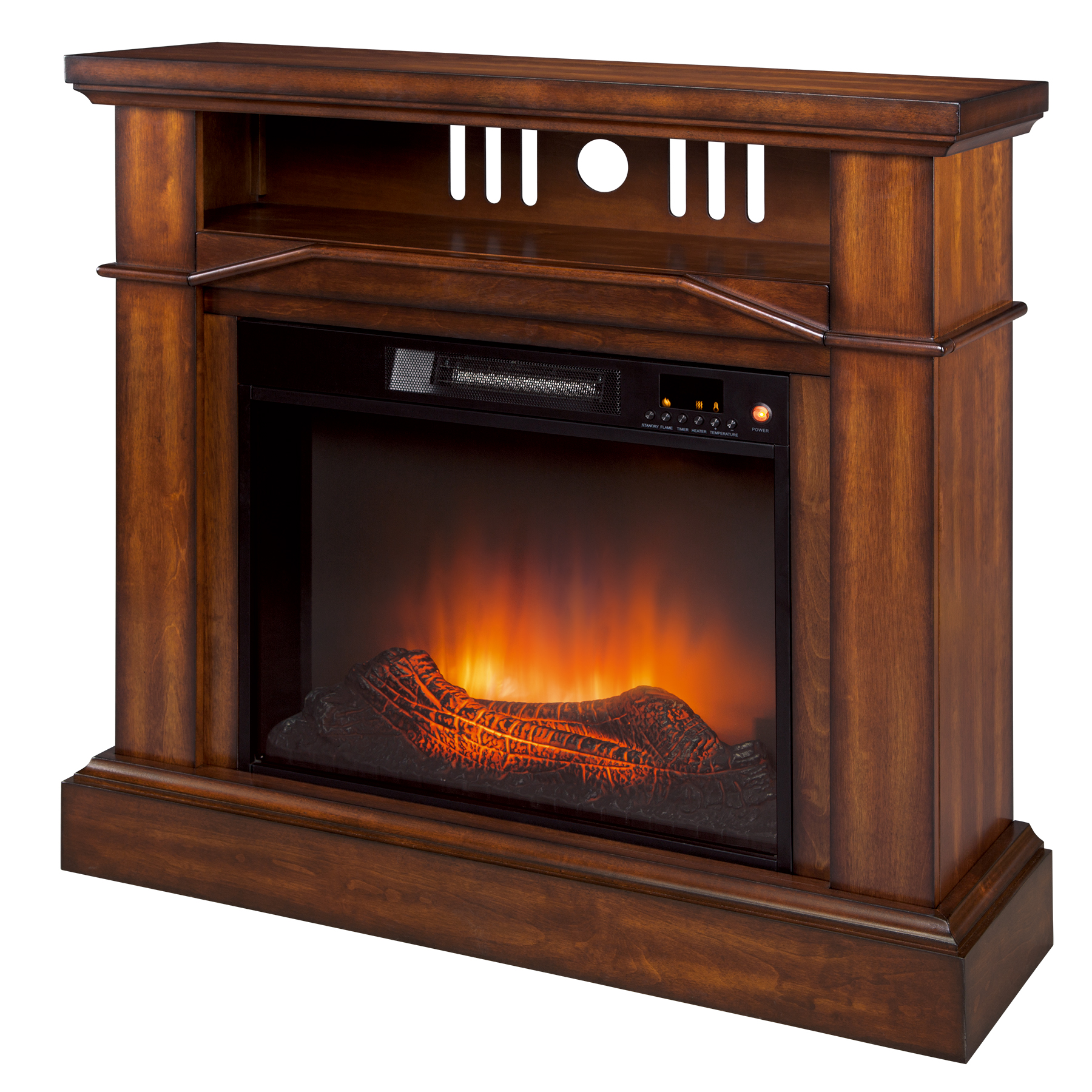 Telluride Wood Veneer Fireplace Keep Cozy and Entertained With Kmart