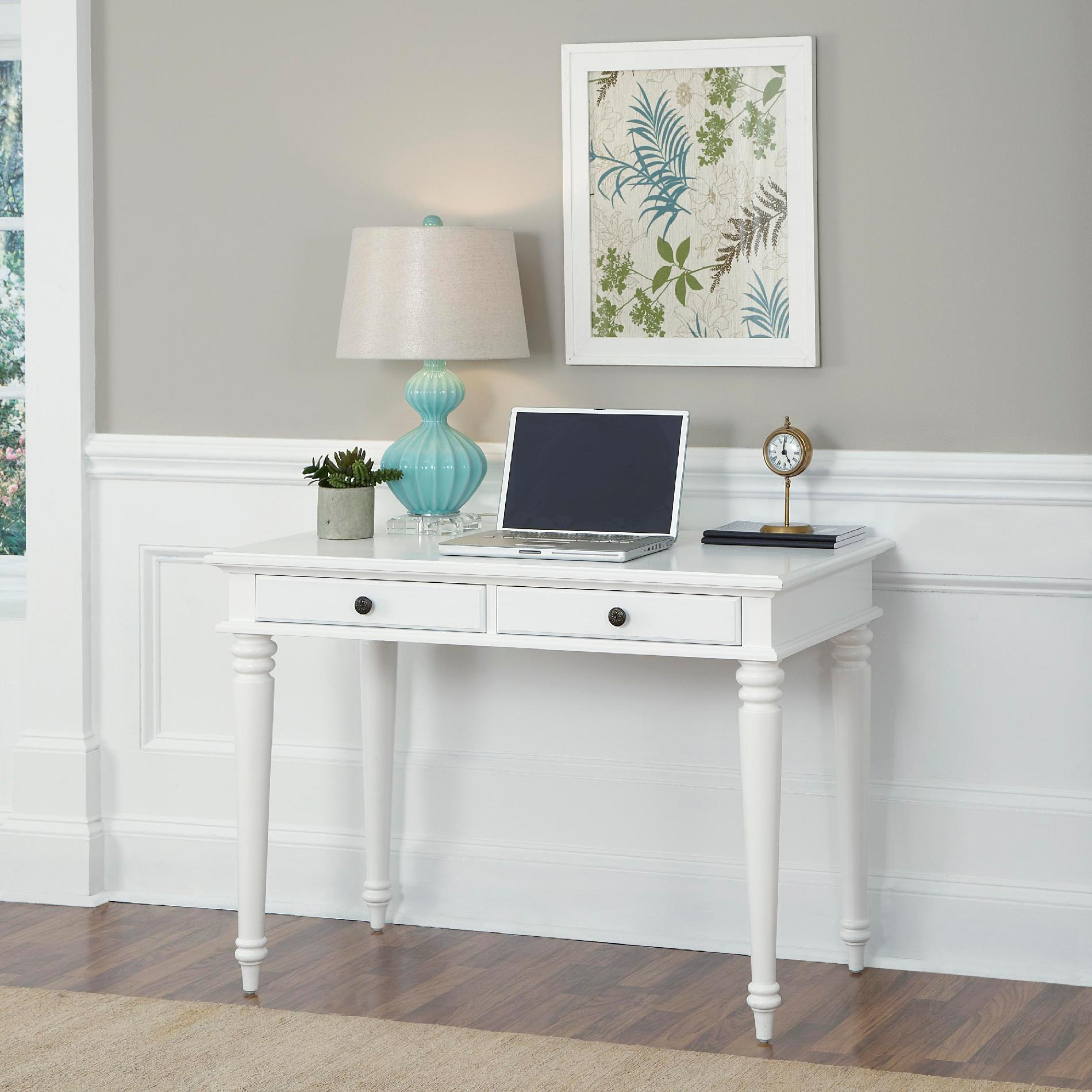 Home Styles White Bermuda Student Desk - Furniture Office Desks & Hutches