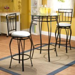 Kitchen Bistro Sets Concrete Sink 3pc Gabriella Pub Table Set Home Furniture Dining