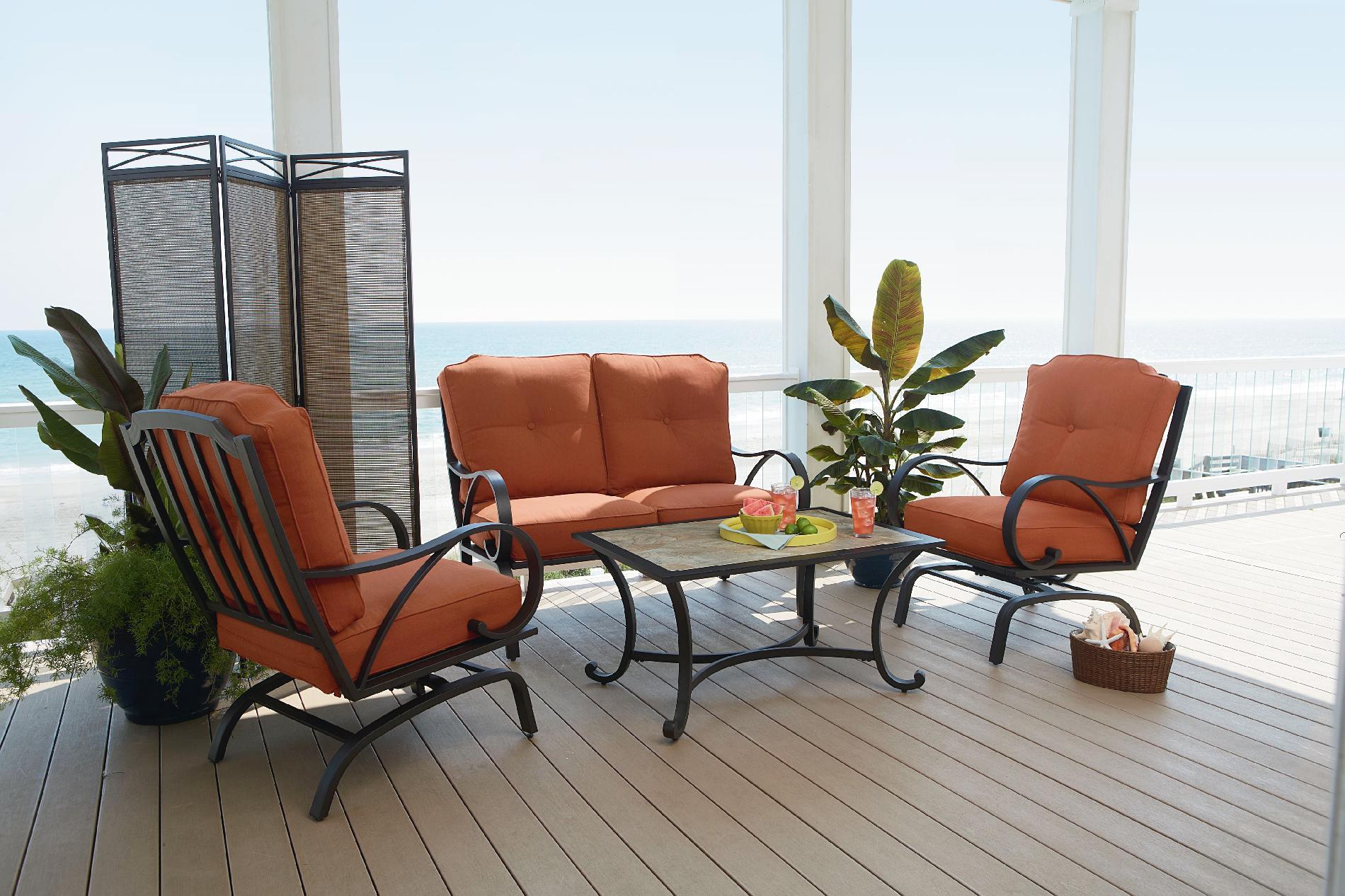 Agio International Anna 4pc Oversize Motion Seating Set