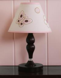 GEENNY Pink Brown Butterfly Lamp Shade - Baby - Nursery ...