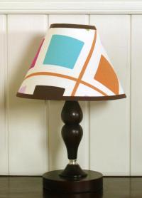 GEENNY Pink Brown Diamond Lamp Shade