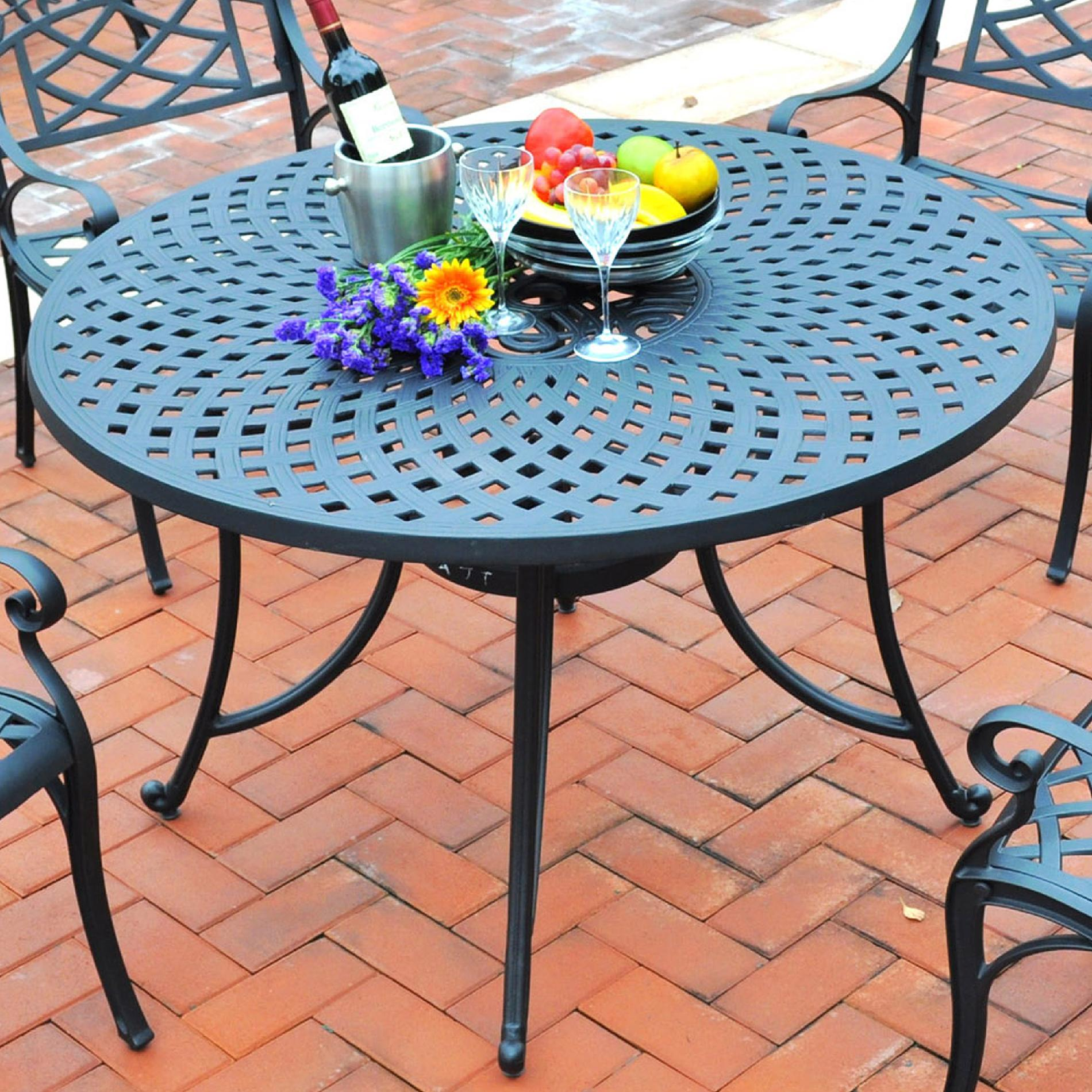 "Crosley Outdoor Sedona 48"" Cast Aluminum Dining Table"