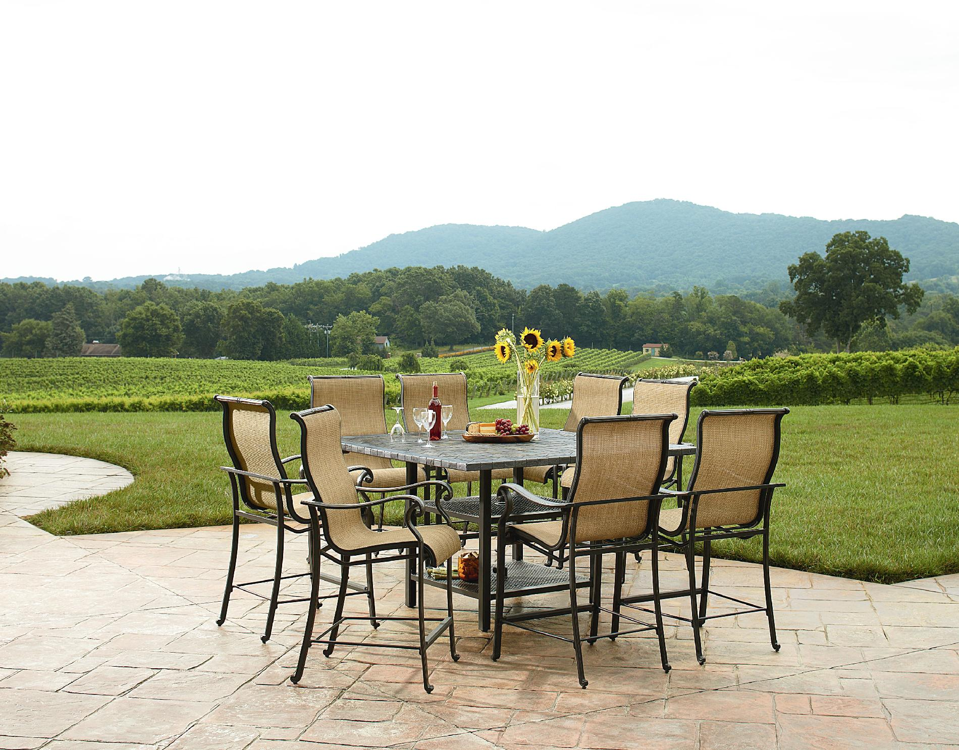 Agio International Panorama Outdoor 9 Piece High Dining