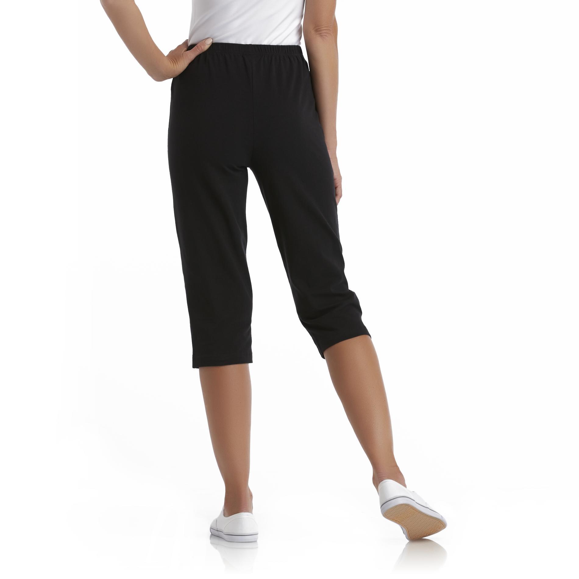 Basic Editions Women' Knit Capri Leggings