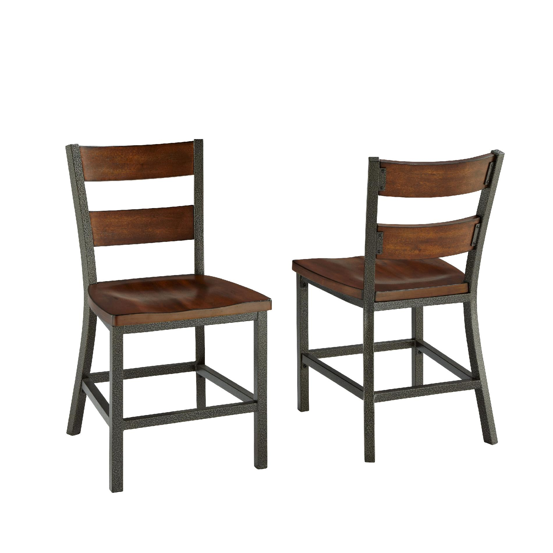 metal wood dining chairs v rocker gaming chair home styles cabin creek pair