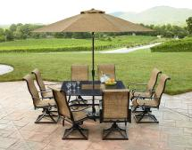 Grand Resort Sunset Place 9pc Dining Set