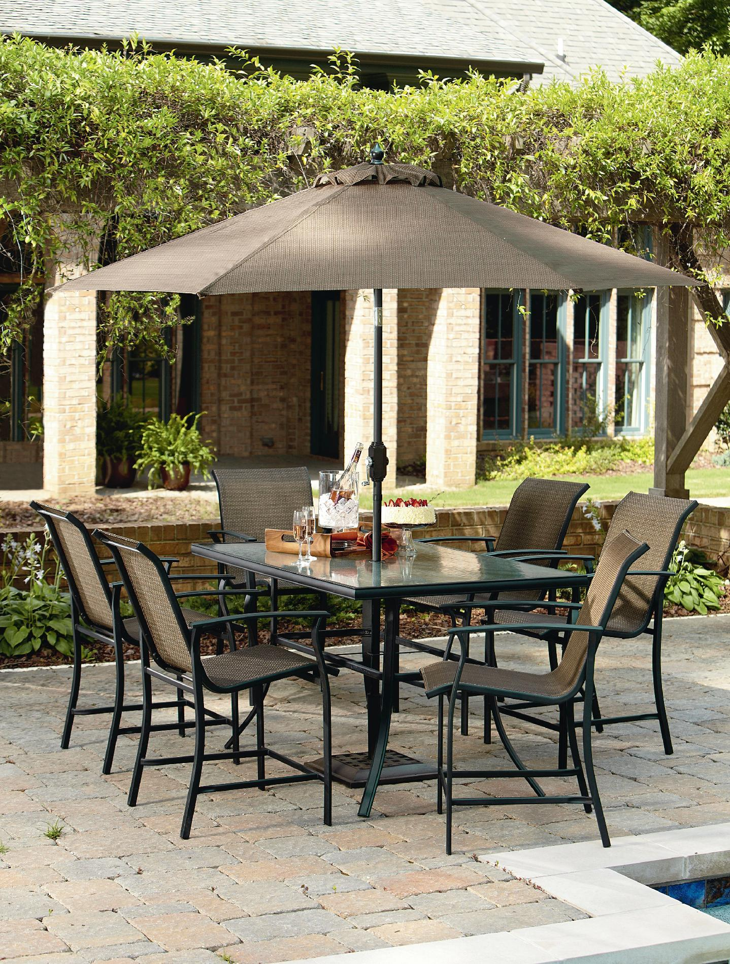 Review Garden Oasis Harrison 7 Piece Sling High Dining Best Patio Furniture 2014