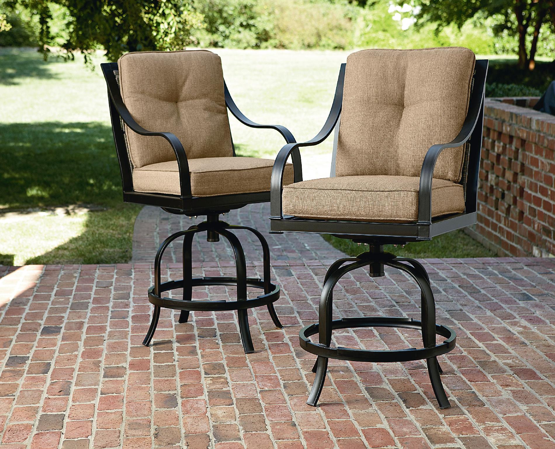 La-boy Outdoor Charlotte 2pk Patio Bar Stools - Living Furniture Seating