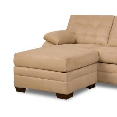 Beige Microfiber Sectional Sofa With Storage Chaise Clark Rubber Bed Mattress Simmons Dawson