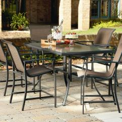 Sling Stackable Patio Chairs Chair Design In Wood Garden Oasis Harrison 7 Piece High Dining Set - Outdoor Living Furniture Sets