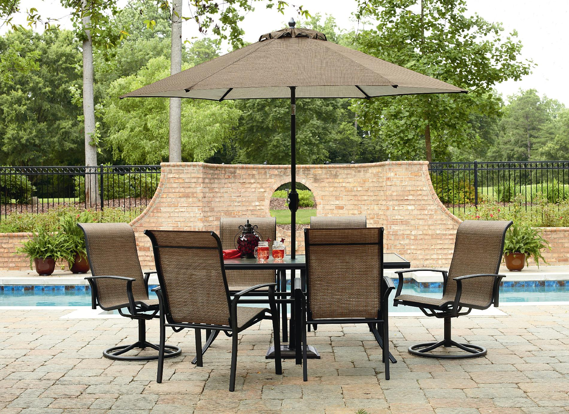 Garden Oasis Harrison 7 Piece Dining Set In Green Shop