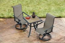 Hiland Santa Ana 3-piece Wicker Patio Bistro Bar Set
