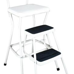Cosco Retro Counter Chair Step Stool Amazon Sofa Home And Office Products White